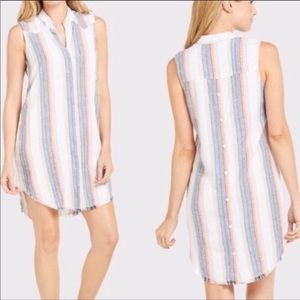Cloth & Stone Striped Shirt Dress